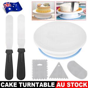 Cake Decorating Tool Rotating Turntable Baking Stand Cream Icing Scraper Spatula