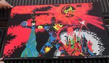 "Vintage 1970 Valley Shadow of Death Black Light Poster 35/"" x 23/"" Black light"