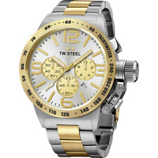 TW STEEL CB33 MENS TWO TONE 45MM CANTEEN WATCH - 2 YEARS WARRANTY