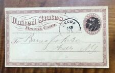 Us Postal Card Ux1 Liberty (1873) One Cent Brown- Note on back