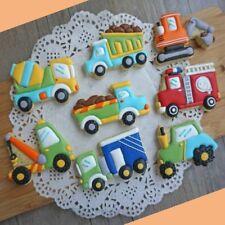 8Pcs/Pack Cartoon Cookie Cutter Car Shape DIY Biscuit Cookie Mold Fondant Decor