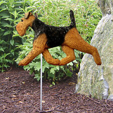 Welsh Terrier Outdoor Garden Dog Sign Hand Painted Figure
