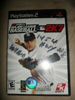 PS2 MLB 2k7 (Sony PlayStation 2) Video Game CIB Complete With Manual TESTED