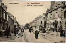 CPA   Pontorson -  La grande rue - Hotel de l'Ouest    (209072)