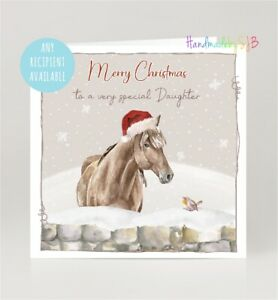 Horse Christmas Card, Any Recipient, Daughter/Granddaughter/Mum/Sister/Niece