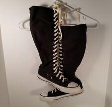 Airwalk Women's Canvas Upper Balance Knee High Laced Boots Black