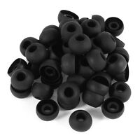 50 Pcs Black Earbuds Earpiece In Ear Buds Tip Cover Replacement P1K8 H7U8 P X6A2