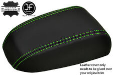 GREEN STITCHING REAL LEATHER ARMREST LID COVER FITS KIA CERATO 2004-2008