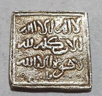 ALMOHADE Silver Coin High Grade Square AR Dirham MINT FEZ 1.54g 12th century RR