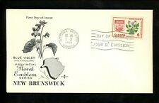 Postal History Canada Fdc #421 Rose Craft Provinces New Brunswick 1965