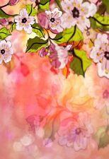 3x5ft Vinyl Photo Backdrops Pink Romantic Flowers Photography Background Studio