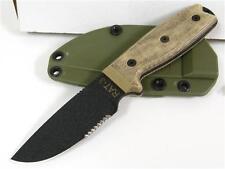 ON8633 Ontario RAT-3 1095 Serr Carbon Blade Micarta Handles Kydex Sheath USA