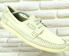 CLARKS White Leather Mens Deck Boat Casual Shoes Moccasins Size 10 UK 44 EU