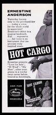 1958 Ernestine Anderson photo Hot Cargo album release vintage print ad