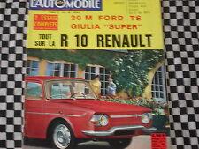 revue L'AUTOMOBILE 1965 PORSCHE 912 /FORD 20 M TS / MUSTANG 350 GT /GIULIA SUPER