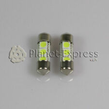 2 x Bombillas 3 LED SMD C5W Festoon 31mm Matricula interior lectura Blanco Xenon