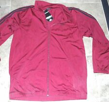 NEW ADIDAS TRICOT JACKET TT Basketball Mens MED Loose Fit NWT NR Burgundy