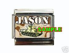 Army Tank #1 ANY NAME Custom Italian Charm Military USA