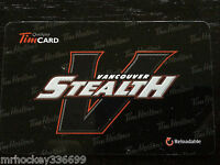 2014 Tim Hortons Vancouver Stealth Lacrosse (FD42378) Collectible gift card 336