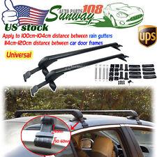 Aluminum Universal Roof Rack Cross Bar W/Anti-theft Lock For 4DR Sedan SUV Kayak