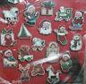 Janlynn Jolly Christmas Ornaments Set of 18 Cross Stitch Kit 77-625 New