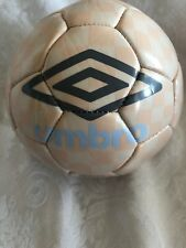 Umbro Size 1 Soccer Ball Checkered Pattern Pale Pink And Cream NEW
