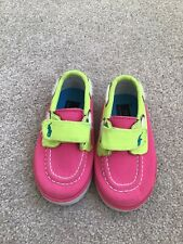 RALPH LAUREN BABY BOAT SHOES TRAINERS SIZE INFANT UK 3.5