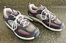 Skechers Shape Ups Fitness Walking Shoes Women's Size 8 US Pink / Silver / Navy