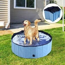 80*20cm Large Pet Swimming Pool Bath Cat Dog Indoor Outdoor Foldable Bathtub