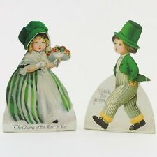 2 Retro Bethany Lowe St Patricks Day Irish Children Kids Dummy Boards DAMAGE