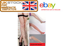 Purple Thigh High Fishnet Whale Net Stockings Pirate Army Hen Stag Night