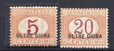 FRANCOBOLLI 1925 OLTRE GIUBA SEGNATASSE 5+20 CENTESIMI MNH D/9763