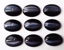 18pcs(2*9) Black Cat Eye Oval Cab Cabochon Wholeslae! 25x18x6mm WMY3
