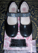 Lelli Kelly Dolly Girls Black Leather School Shoes With Straps EU 32 US 2 UK 13