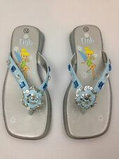 Kids Girl Disney Tinker Bell Rhinestone Sandals Size 12  Thick Supportive Soles