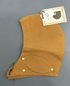 Vintage CARHARTT jacket coat Brown Blanket Lined Snap-On Hood with Face Guard
