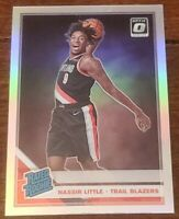 Nassir Little 2019-20 Donruss Optic Rated Rookie RC Prizm Parallel #154