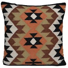 "Kilim Cushion Wool Cotton Jute Cover Handmade 20"" 50cm Moroccan Indian Persian"