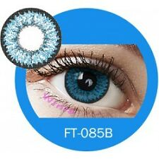 Lentilles de couleur bleu 3 tons FT085B - blue color contact lenses