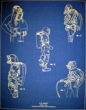 "Classic US Navy Deep Sea Diving Suit Blueprint Display Plan 14""x18"" (298)"