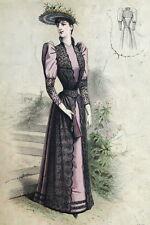 Legrand Mode Fashion Robe Chapeau Paris Elegant Gourbaud Lithographie 19e