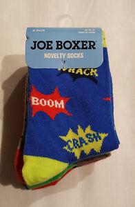 JOE BOXER MISTER LUCKY BOYS NOVELTY SOCKS 2 PAIR FITS 6-8.5 BLACK,GREEN,SHAMROCK