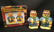 """Halloween Pumpkin Scarecrow Salt And Pepper Shakers 3"""""""