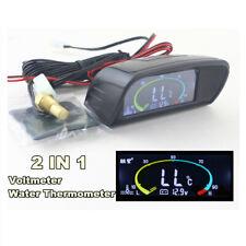 Water Temp Gauges Voltmeter Voltage Gauge LCD Digital Display 12V/24V Car Truck