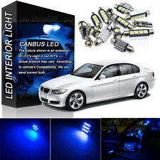 14x Canbus Blue LED Lights Interior Package for 06-2011 BMW 3 Series E90 M3 PL