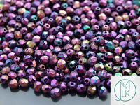 1200 Fire Polished Beads 4mm Iris - Purple WHOLESALE