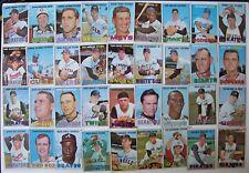 TOPPS 1967 VINTAGE BASEBALL 36 CARD LOT MOORE GOOD SHAPE