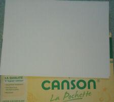 10 feuilles de papier dessin format A4 CANSON