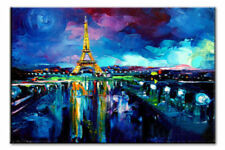 Modern Abstract Wall Decor Oil Painting On Art Canvas,Eiffel Tower(No Frame)