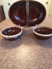 Three Pcs Kathy Kall Usa Pottery Diver And Desert Bowls